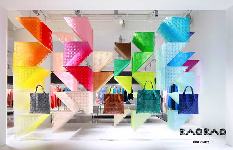 Emmanuelle  Moureaux has created window installation rainbow moiré