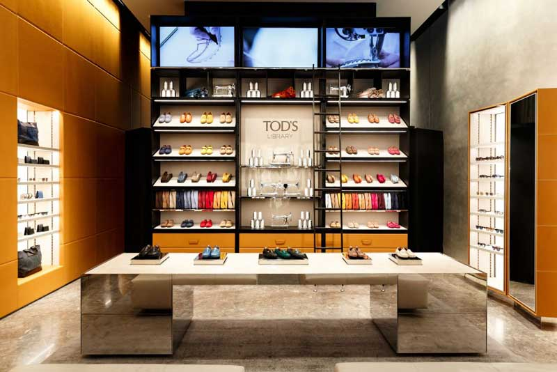 format boutique Tod's Library New York