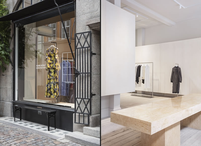 David Thulstrup designed flagship boutique Mark Kenly Domino Tan