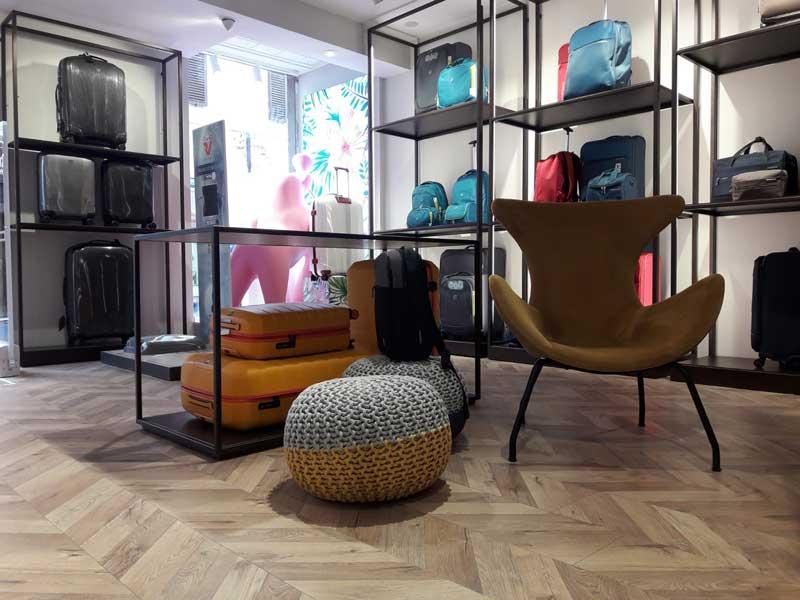 Valigeria Roncato flagship store Roma via Frattina