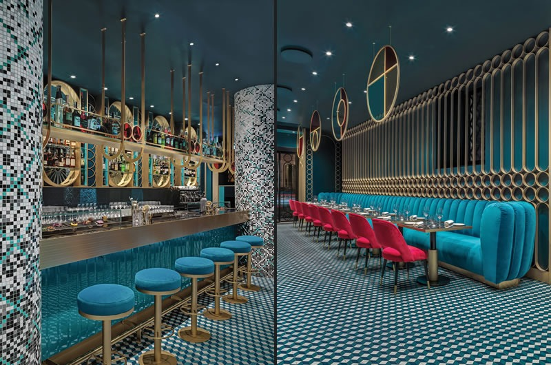 Lion restaurant and cocktail bar designed by COLLIDANIELARCHITETTO