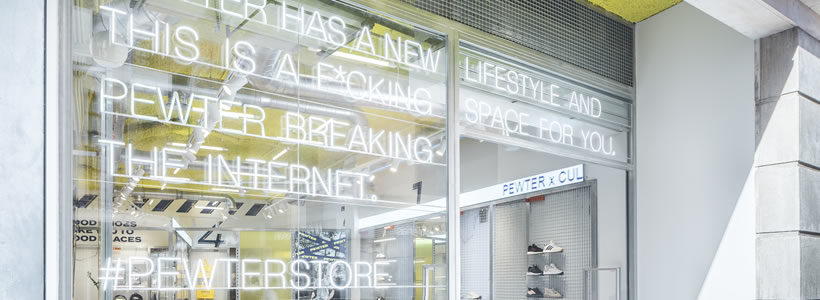 Flagship Store PEWTER, un concept mobile friendly.