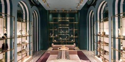Aquazzura  Soho. A theatrical boutique designed by Humbert & Poyet.