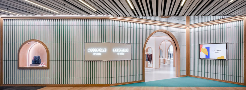 Kokaistudio signs the interior design of  Assemble by Réel in Shanghai.