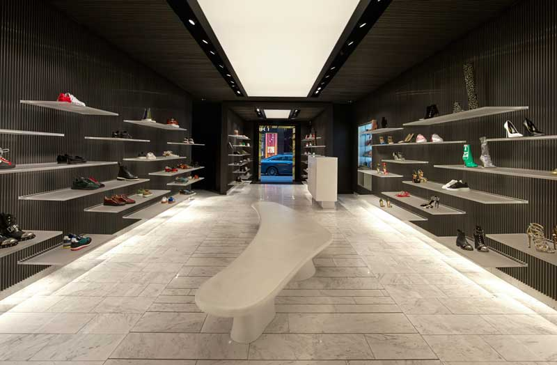 Studio MVSA Architects  progetto Shoebaloo store Amsterdam
