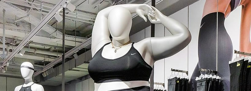 NIKE introduces curvy mannequins to London store