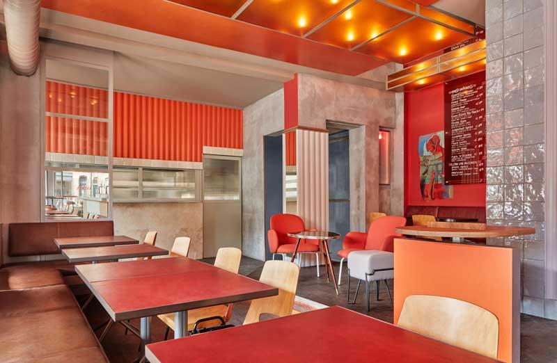 restaurant Ramona designed by Studio Modijefsky