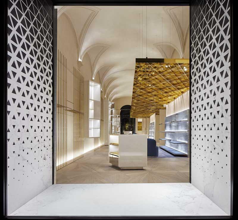 Versace Florence store designed by architect Gwenael Nicolas Curiosity Studio