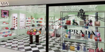 PRADA opens a new store in Paris.