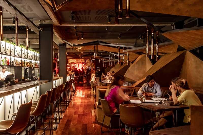 Hitzig Militello Arquitectos progetto ristorante Mamba bar