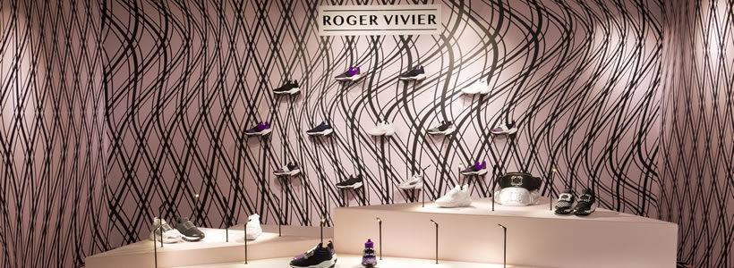 ROGER VIVIER: un pop-up store a Le Galeries Lafayette Champs-Élysées.