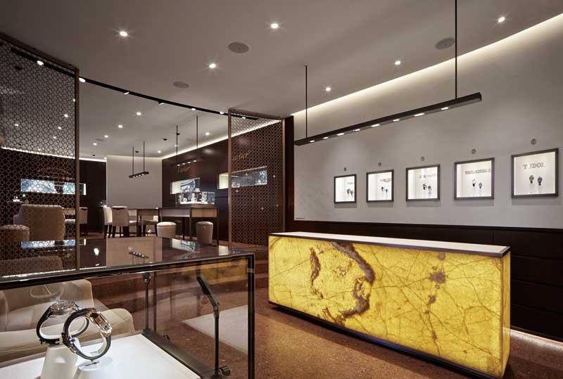 barth realizza su misura interni per gioiellerie e boutiques