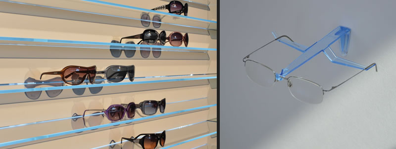 ICAS drawers and accessories furnishings for opticians pharmacies and jewelers