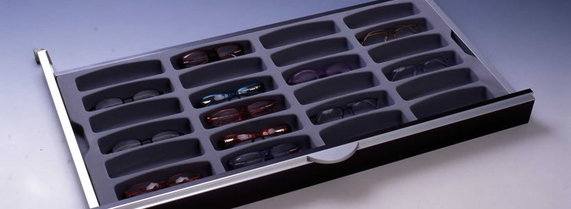 See the drawers with a different optical view.