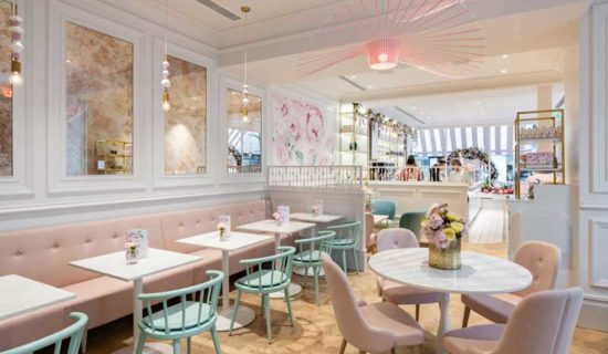 Kinnersley Kent Design progetta la boutique delle torte Peggy Porschen di Londra