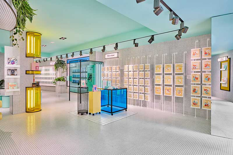 Masquespacio progetto concept store Rubio