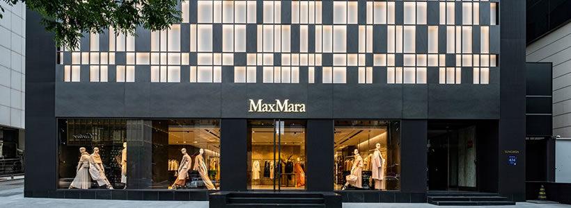 MAX MARA: un flagship store a Seoul.