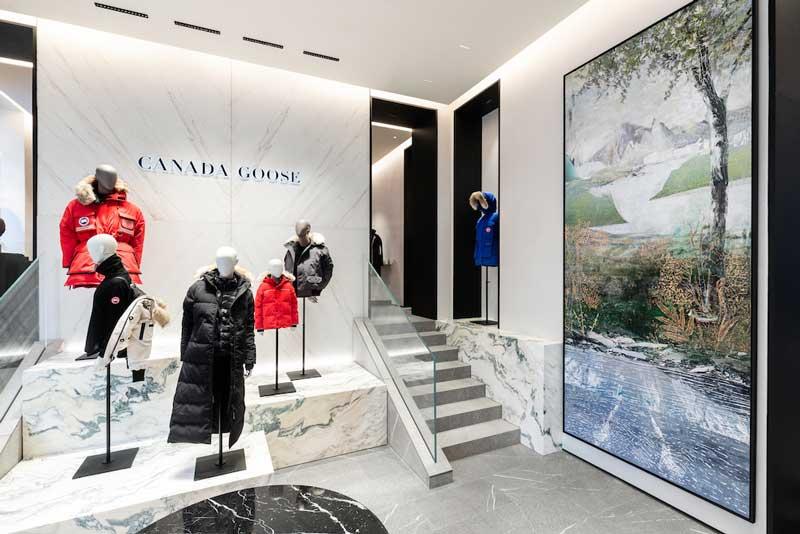 Canada Goose boutique Milano Italia