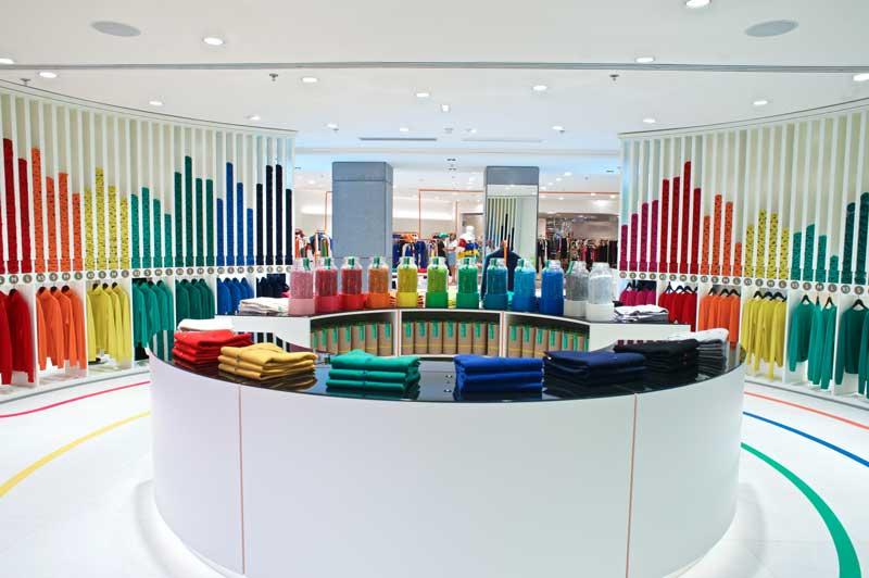 Benetton space inside Printemps