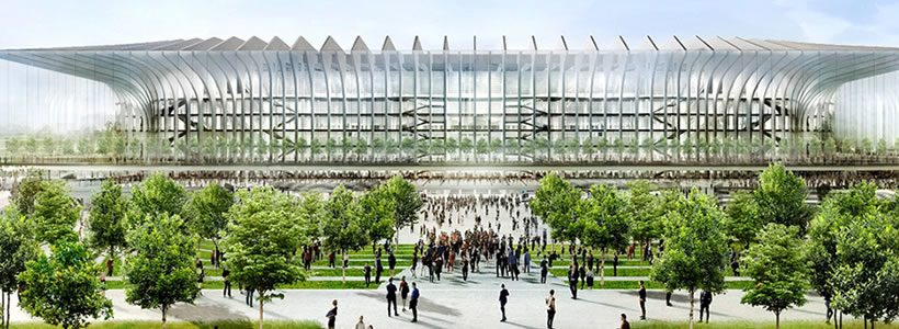 Progetto per il nuovo stadio di Milano: 'LA CATTEDRALE'.