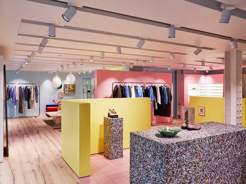 Stamuli Architects designed Ganni flagship store