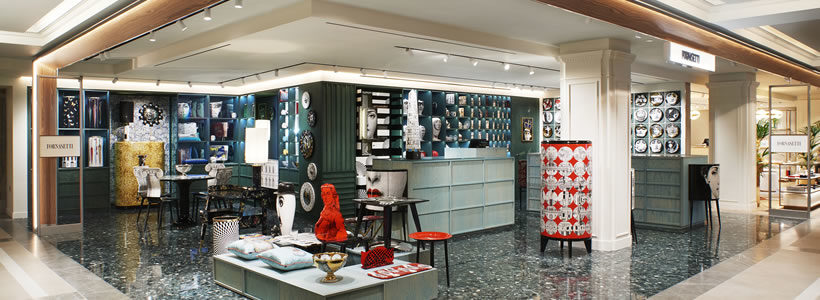 The new FORNASETTI boutique at Harrods.