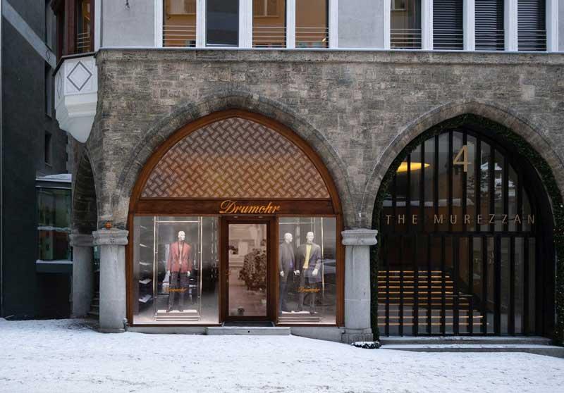 nuova boutique Drumohr Saint Moritz