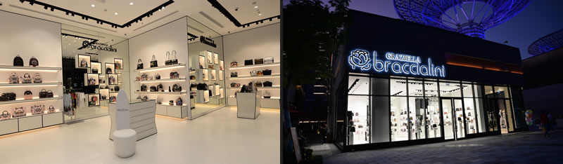 Graziella&Braccialini flagship store Dubai