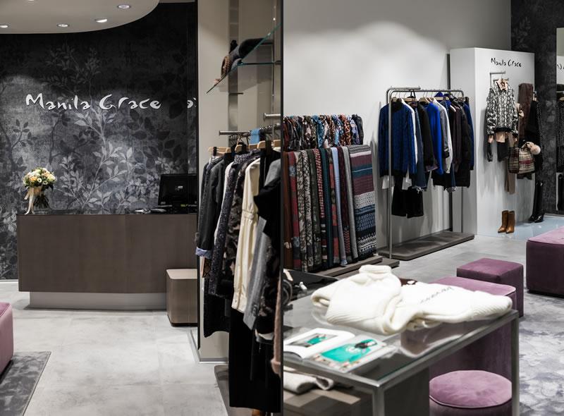 Lo spazio Manila Grace, di 120 mq., andrà ad occupare una posizione centrale andandosi a collocare al primo piano della galleria commerciale. I negozi Manila Grace vengono studiati per far vivere alla propria cliente una customer experience qualificante e unica.