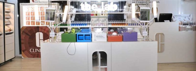 Pop up store CLINIQUE THE LAB a Milano.