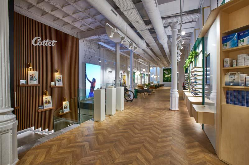 Progetto di interior design OTTICA COTTET Barcellona