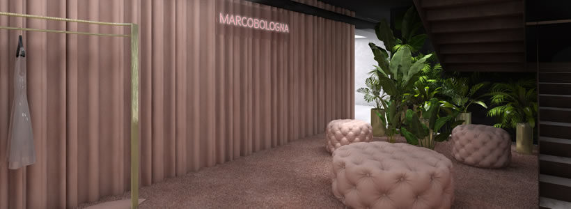 THINK PINK LUXURY Showroom Concept in Milan.