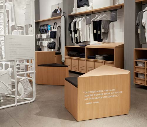 Frederick Tang Architecture design of  Mack Weldon's store