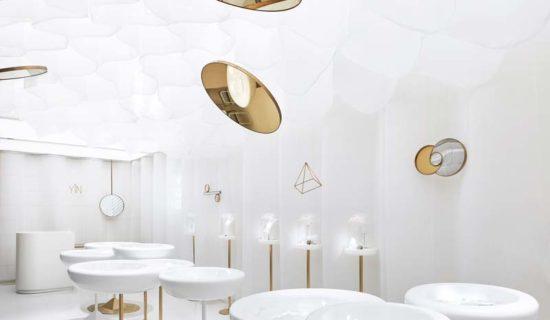 Interior design gioielleria YǏN Pechino.