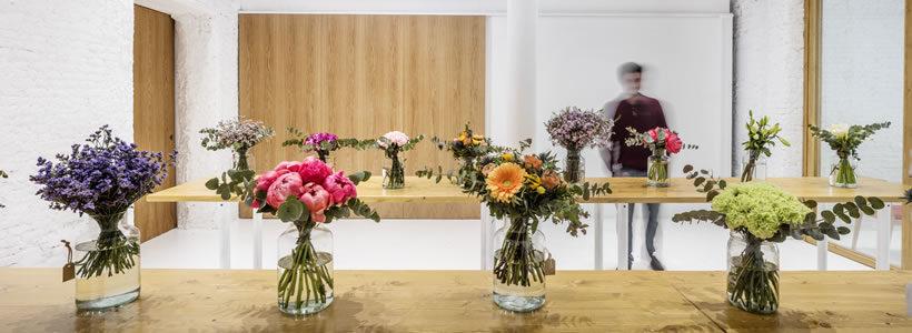 Progetto per il negozio di fiorista COLVIN di Barcellona.