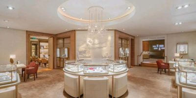 CARTIER –  Superbly renovated flagship 'Salon Parisien' at Rue Francois Ier.