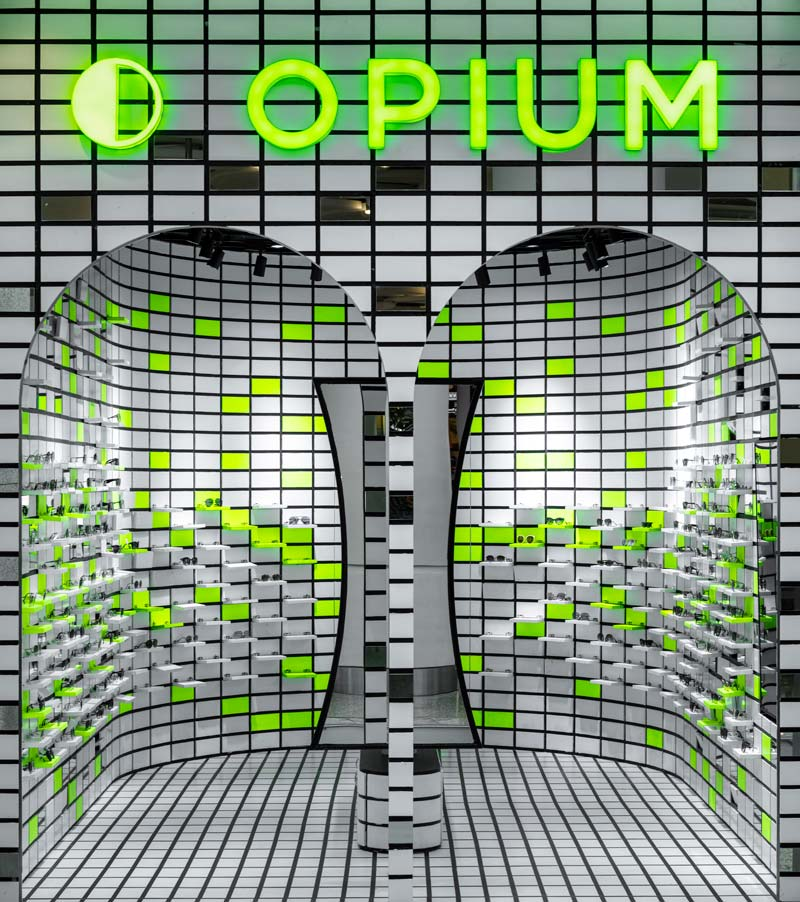 Opium pop-up store designed by Renesa Studio
