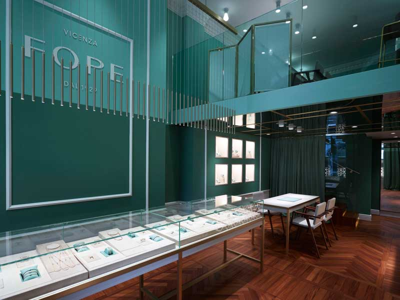 Fope London flagship store designed by ASA Studio Albanese