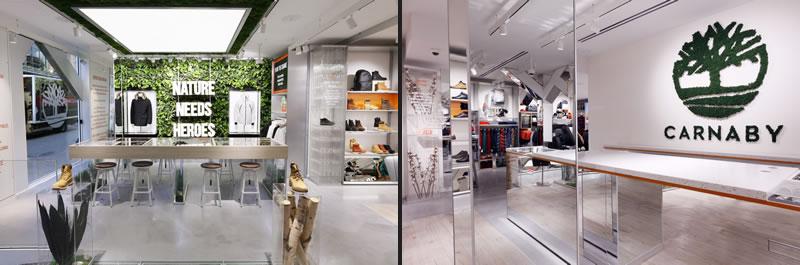 Nuovo Concept Store Timberland un progetto Dalziel & Pow