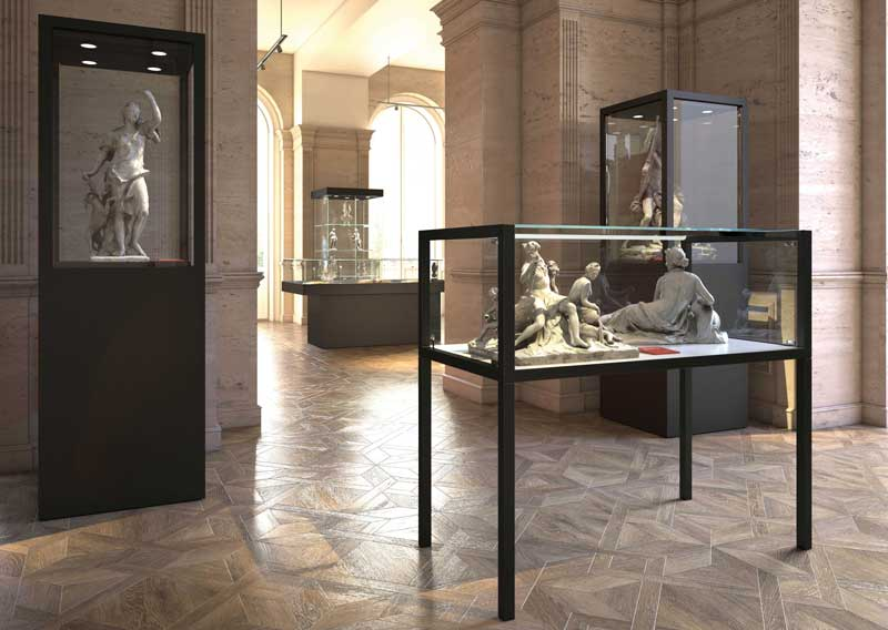 MUSEUM by Italvetrine, a new line of display cases expressly designed for museum exhibitions