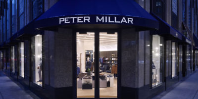 Jeffrey Hutchison & Associates honors Chicago architecture with the design of the new Peter Millar Store.