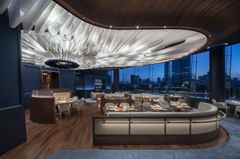 Blue restaurant in Bangkok designed by Jouin Manku