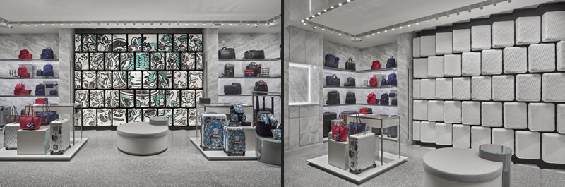 Studio Cassells designed the TUMI Flagship Store in Hong Kong.