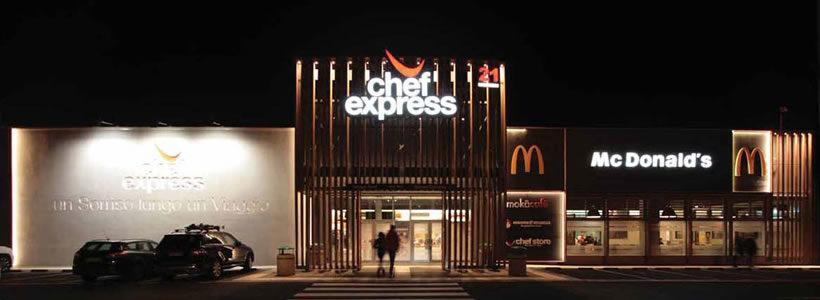 Iosa Ghini Associati progetta la nuova area di servizio di Gonars Nord gestita da Chef Express (gruppo Cremonini).