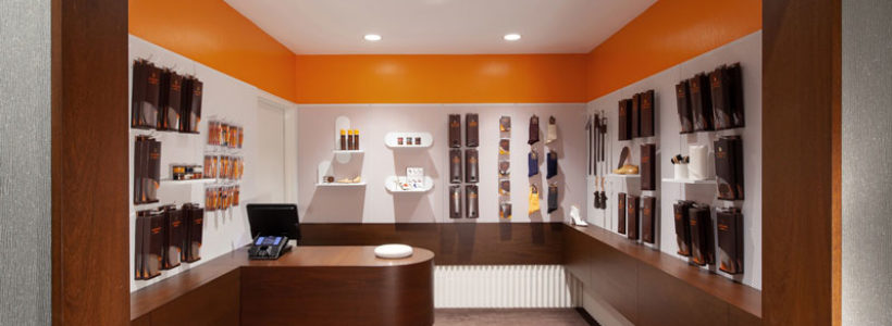 The design of the new Leather SPA store.