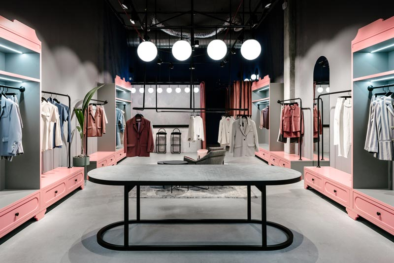 Angelina Malysheva designed Courage's showroom in Odessa