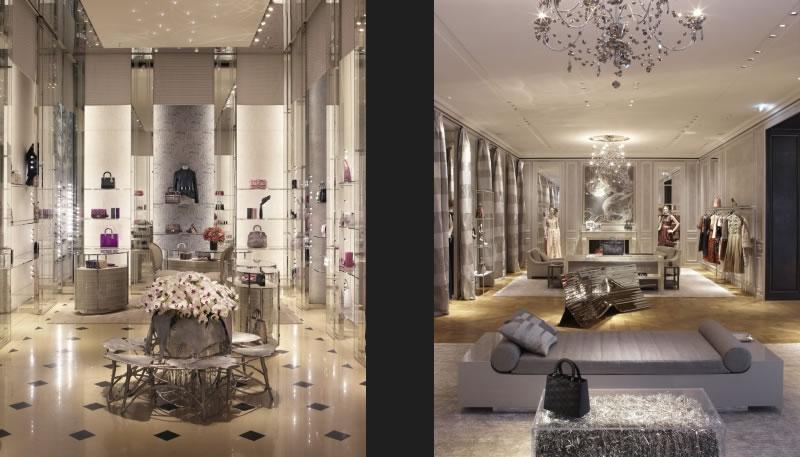 boutique Christian Dior di Milano