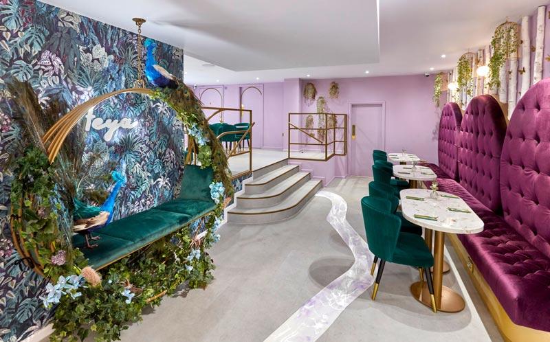 Feya Café di Londra progettato dagli architetti dello Studio FormRoom