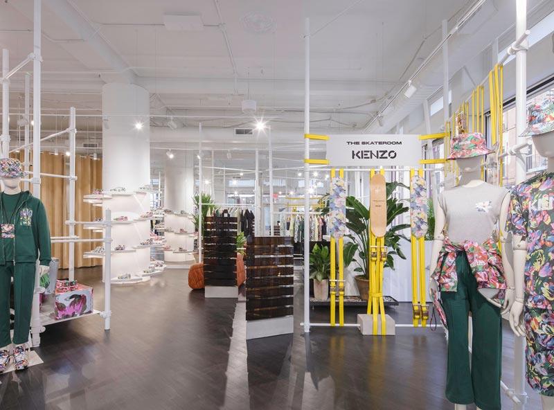 La prima boutique KENZO progettata dal Direttore Creativo Felipe Oliveira Baptista si trova a New York
