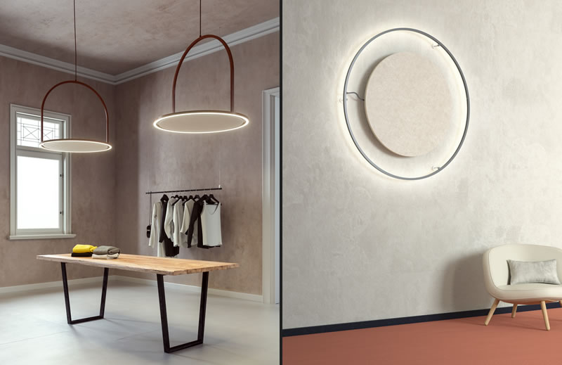 U-LIGHT by AXOLIGHT in sound-absorbing features